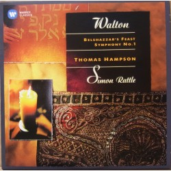 Walton: Symfoni nr. 1. + Belsharzzars Feast. Thomas Hampson, Simon Rattle, CBSO. 1 CD. Warner