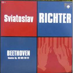 Beethoven: Piano Sonatas nos. 27, 30, 31, 32. Sviatoslav Richter. 1 CD. Russian Archives