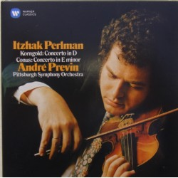 Korngold: Concerto in D. & Conus: Concerto in E-minot. IItzhak Perlman, Andre Previn, Pittsburgh SO. 1 CD. Warner