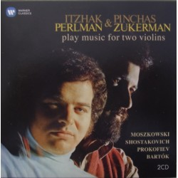 Itzhak Perlman & Pinchas Zukerman: Play music for two violins. Bartok, Prokofiev, Shostakovich. 2 CD. Warner