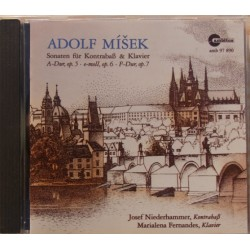 Misek: Sonatas for double-bas and piano. Op. 5, 6, 7. Niederhammer, Fernandes. 1 CD