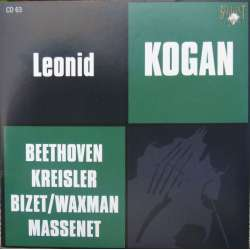 Beethoven: Violin Concerto. Leonid Kogan, Rozhdestvensky. 1 CD. Russian Archives
