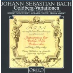 Bach Goldberg Variations for string trio. Sitkovetsky, Cause, Maisky. 1 CD. Orfeo