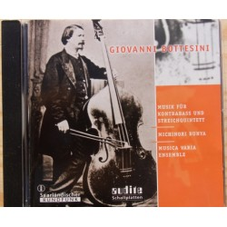 Bottesini: Musik for kontrabass og strygequintet. Michinori Bunya, Musica Varia Ensemble. 1 CD