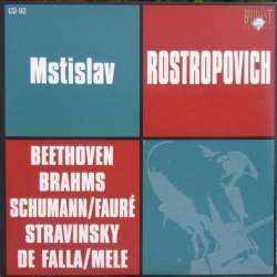 Beethoven: Cellosonate nr. 4 & Brahms: Cellosonate nr. 1. Rostropovich. Dedukhin. 1 CD. Russian Archives