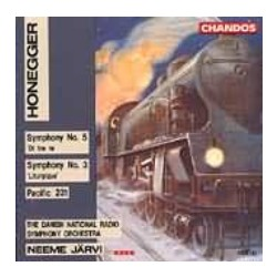 Honegger: Symfoni nr. 3 og 5. +Pacific 231. DRSO, Neeme Järvi. 1 CD. Chandos