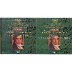 Beethoven: Cellosonate nr. 1-5. Krustev, Vodenicharov. 2 CD. Brilliant Classics