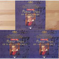 Beethoven: Klavertrioer komplet. Trio Zangara. 3 CD. Brilliant Classics