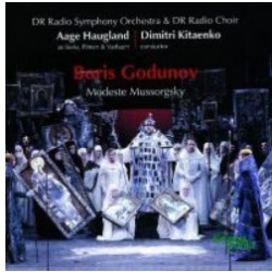 Mussorgsky: Boris Godunov. Aage Haugland, Danmarks Radio SO and Choir Dimitri Kitaenko. 2 CD Kontrapunkt