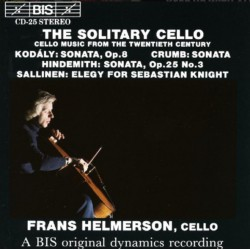 Kodaly & Hindemith: Sonate for solo cello. Frans Helmerson. 1 CD. BIS