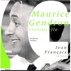 Beethoven: Cello sonata op. 5/1. & Brahms: Cello sonata op. 38. Maurice Gendron, Jean Francaux. 1 CD. INA