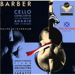 Barber: Adagio for strygere + Cellokoncert. Ralph Kirshbaum, SCO, Saraste. 1 CD. Virgin.