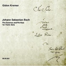 Bach: The Sonatas and Partitas for violin solo. Gidon Kremer. 2 CD. ECM