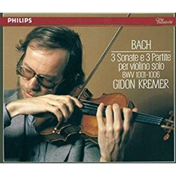 Bach: 3 Sonatas + 3 partitas for violin solo. Gidon Kremer. 2 CD. Philips
