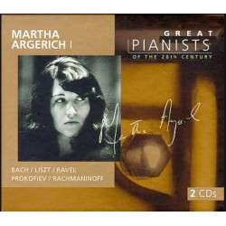 Martha Agerich: Great Pianists of the 20th century. Bach, Liszt, Ravel, Rachmaninov 2 CD. DG
