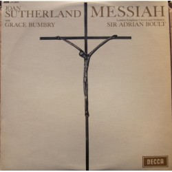 Handel: Messiah in highlights Sutherland, Bumbry. Adrian Boult, LSO. 1 LP. Decca.