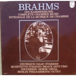 Brahms: Complete Chamber music. Grumiaux, Starker, QI Beaux Arts Trio, etc. 15 LP. Philips