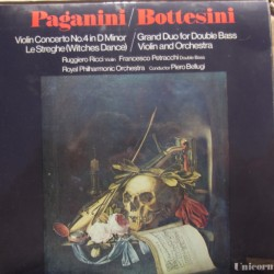 Paganini: Violin Concerto no. 4. & Bottesini: Grand duo for Double bass. 1 LP. Unicorn