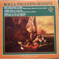 Rolla: Violin Concerto. & Rossini: Duet for cello and Double bass. 1 LP. Turnabout