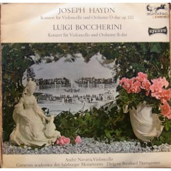 Haydn: Cello Concerto no. 1 Op. 101 & Boccherini: Cello Concerto. Andre Navara, Paumgartner. 1 LP. Eurodisc