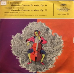 Boccherini: Cello Concerto & Saint-Saens: Cello Concerto. Hoelscher, BPO, Otto Matzerath. 1 LP. DG