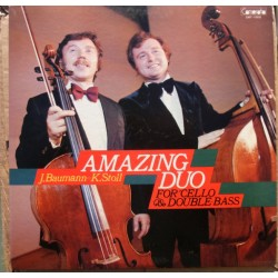Amazing duo for cello and double bass. Jörg Baumann & Klaus Stoll. 1 LP. Camerata Tokyo
