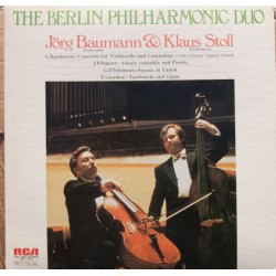 Boccherini: Koncert for cello and Double bass. Jörg Baumann, Klaus Stoll. 1 LP. RCA