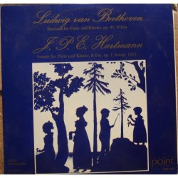 Hartmann & Beethoven: Serenade for flute and piano. Eyvind Rafn, Ester Vagning 1 LP. Point