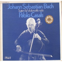 Bach: 6 Suites for solo cello. Pablo Casals. 3 LP. EMI