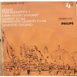 Mozart: String Quartets Kv 464 og Kv 465. Quartetto Italiano. 1 LP. Philips