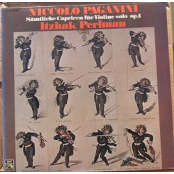 Paganini: 24 Caprices for solo violin. Itzhak Perlman. 1 LP. EMI