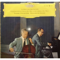 Beethoven: Cellosonate nr. 1 og 2. Pierre Fournier, Friedeich Gulda. 1 LP. DG