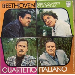 Beethoven: Strygekvartet Op. 18 nr. 5 og 6. Quartetto Italiano. 1 LP. Philips