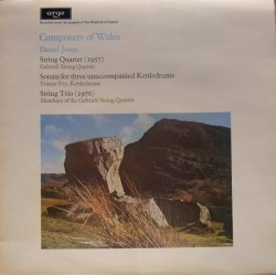 Composer of Wales. Daniel Jones. String Quartet, Sonata, String Trio. 1 Lp. Argo