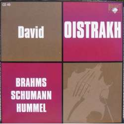 Brahms: Violin sonata no. 3 & Schumann: Piano trio no. 1. David Oistrakh, S. Richter. Knushevitzky. 1 CD Russian Archives