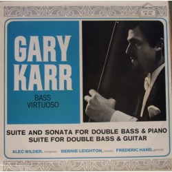 Wilder: Suite and sonate for double bass and piano. Gary Karr. 1 LP. GG
