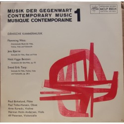 Danish Contemporary music by, Weis, Bjerre, Bentzon, Tarp. 1 LP. Metronome