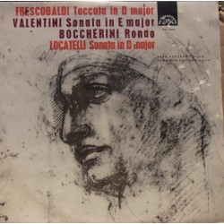 Cello sonatas by Frescobaldi, Valentini, Boccherini, Locatelli. 1 LP. Supraphon