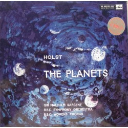 Holst: The Planets. Sir Malcolm Sargent, BBC. Symphony Orch & Chorus. 1 LP. EMI. ASD 269