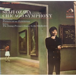 Mussorgsky: Pictures at an Exhibition. & Britten: The Young Persons guide. Ozawa, CSO. 1 LP. RCA