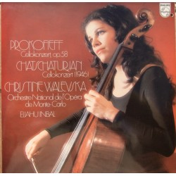 Prokofiev: Cello Concerto. & Khatchaturian: Cello Concerto. Christine Walevska. Inbal. 1 LP. Philips