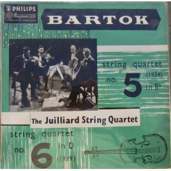 Bartok: Strygekvartet nr. 5 og 6. The Julliard String Quartet. 1 LP. Philips