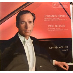 Brahms: Variations and fugue on theme by Handel. & Nielsen: Chaconne. Eivind Møller. 1 LP.