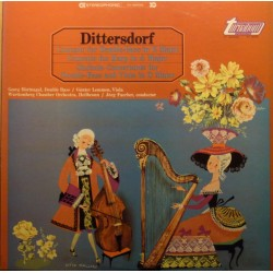 Dittersdorf: Concert for Double bass, + Concerto for harp. 1 LP. Turnabaut