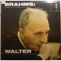 Brahms: Symphony no. 1. Bruno Walter, New York Philharmonic. 1 LP. CBS