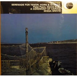 Britten: Serenade for tenor, horn & Strings. + A Ceremony of Carols. 1 LP. Decca