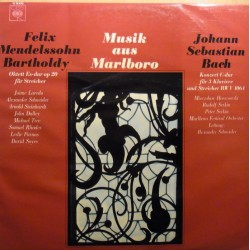 Bach: Concerto for 3 pianos + Mendelssohn: Octet. 1 LP. CBS