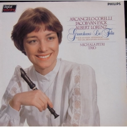 Michala Petri Trio plays Corelli, van Eyck, Lorenz. 1 LP Philips. 6514166