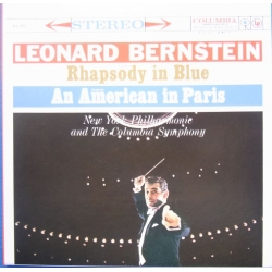 Gershwin: Rhapsody in Blue & An American in Paris. Bernstein, New York PO. 1 LP. CBS