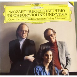 Mozart: Kegelstatt-Trio. - Duos for violin and viola. Kremer, Kashkashian, Afanassiew. 1 LP. DG